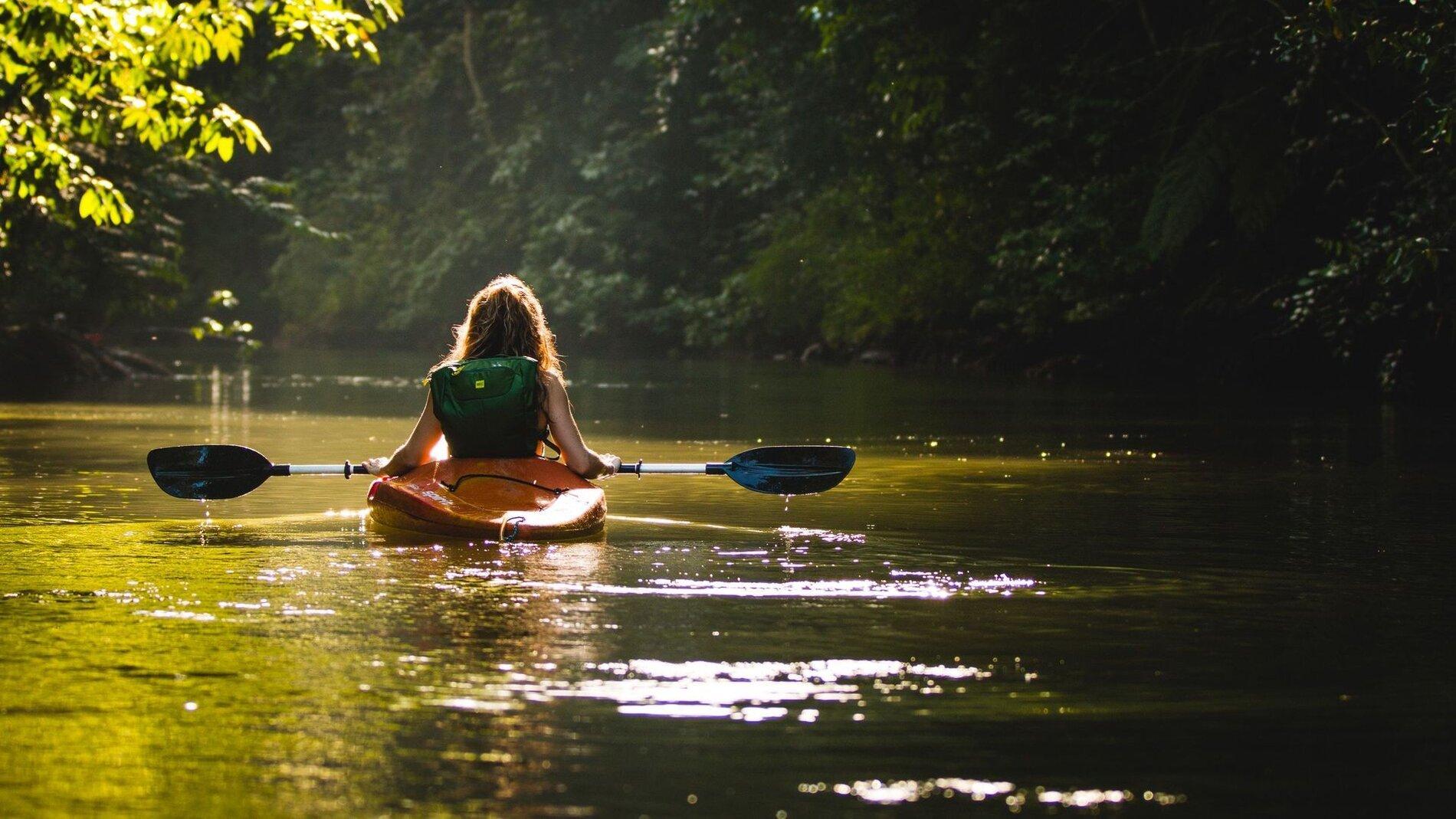 Kayak of kano varen op de Nete